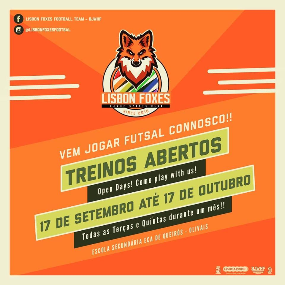 Treinos Abertos Futsal – Lisbon Foxes // 20h30