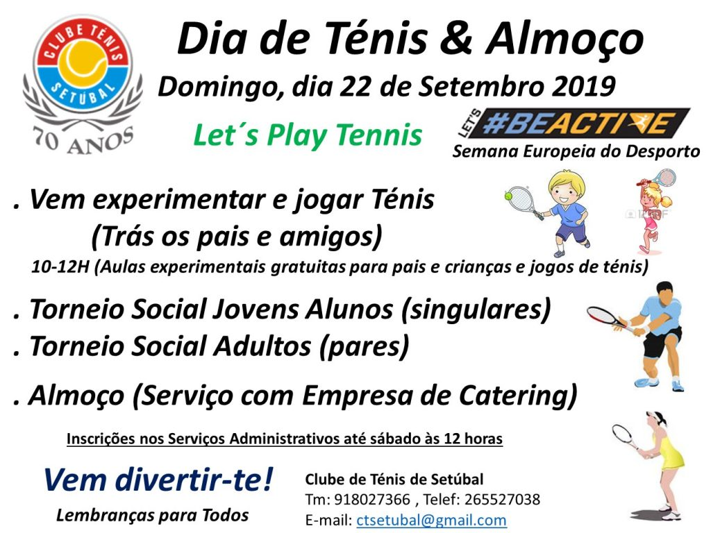 #BEACTIVE – Let´s play Tennis – Clube de Ténis de Setúbal
