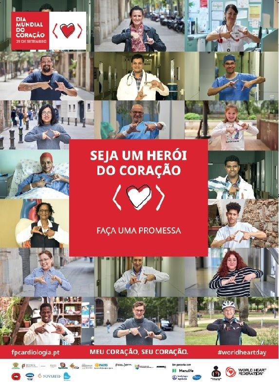 DIA MUNDIAL DO CORAÇÃO ❤️ «Seja um herói do coração»