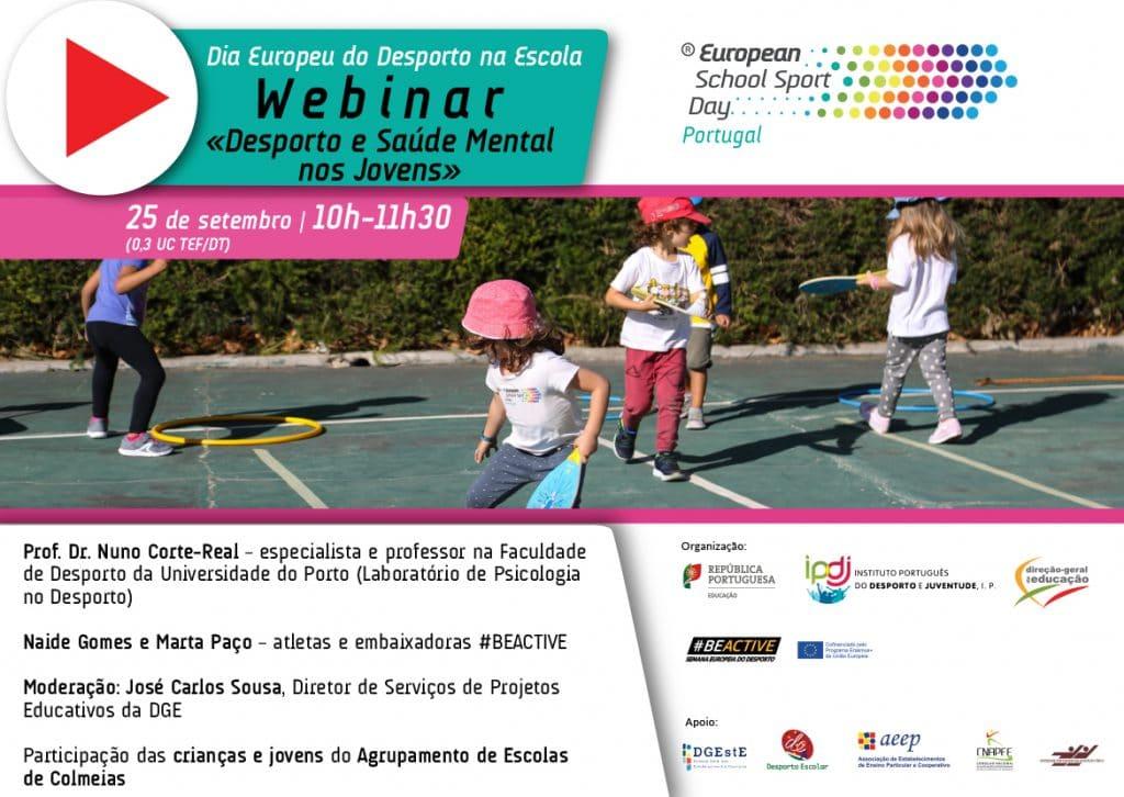 """Webinar Dia Europeu do Desporto na Escola: """"Desporto e Saúde Mental nos Jovens"""""""