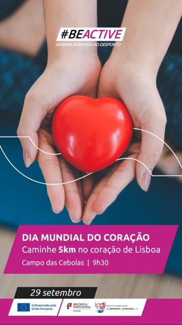 """DIA MUNDIAL DO CORAÇÃO – CAMINHADA """"LISBOA NO CORAÇÃO"""""""